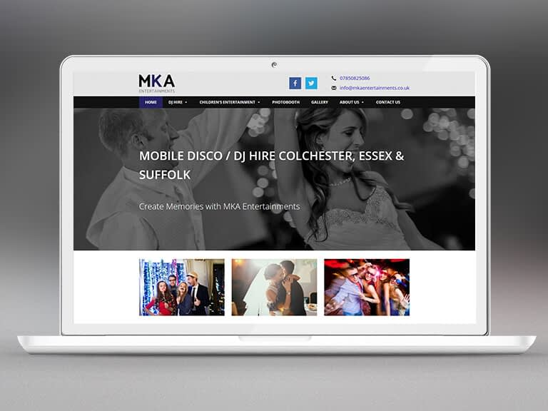 MKA Entertainments Pay Monthly Website Design