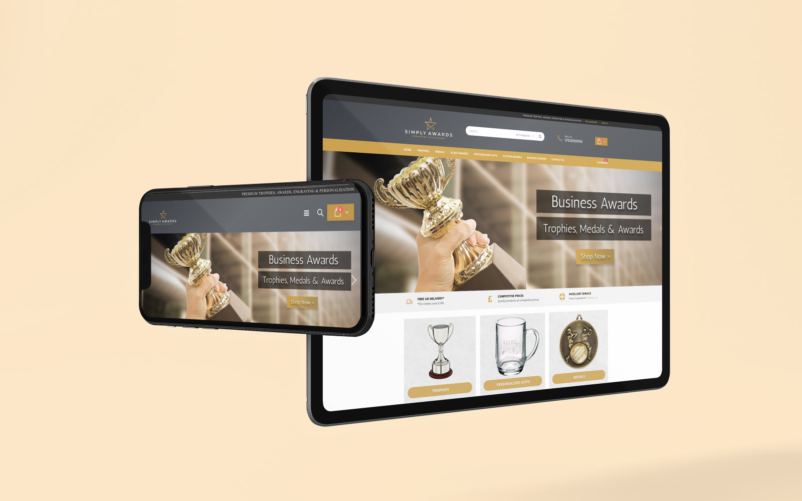 Simply Awards Ecommerce Website