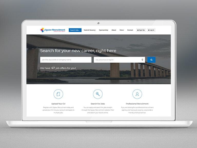 Jigsaw Recruitment Pay Monthly Website Design