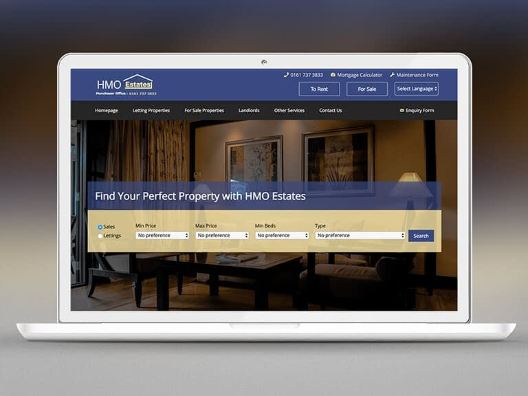 HMO Estates Pay Monthly Website Design