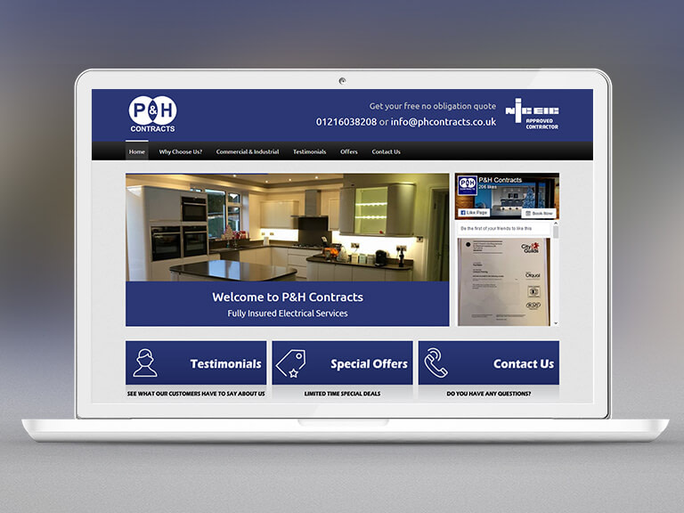 P&H Contracts Pay Monthly Website Design