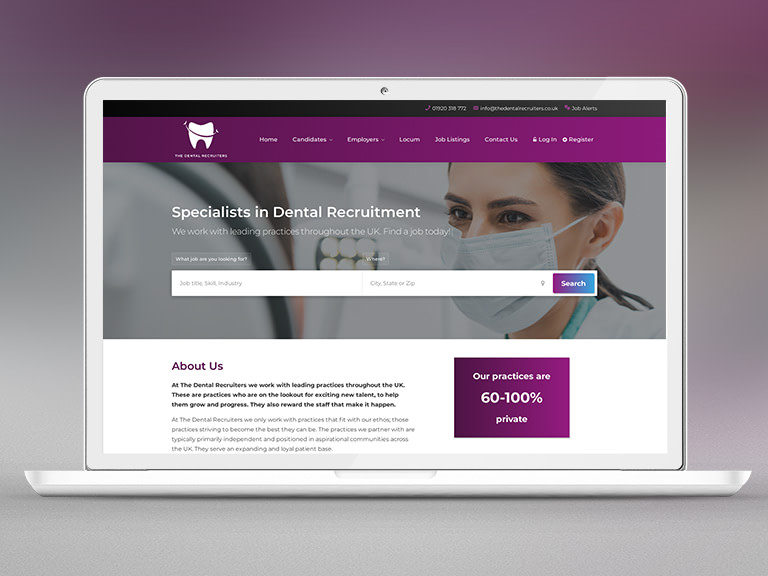 The Dental Recruiters Pay Monthly Website