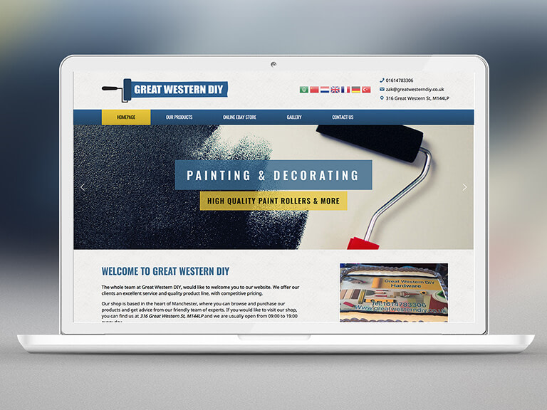 Great Western DIY Pay Monthly Website Design
