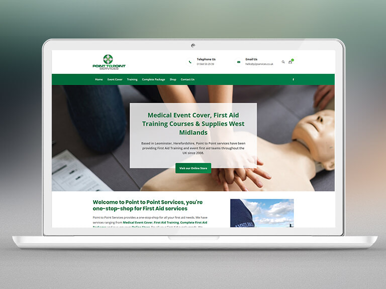 Point to Point Services Pay Monthly Website Design