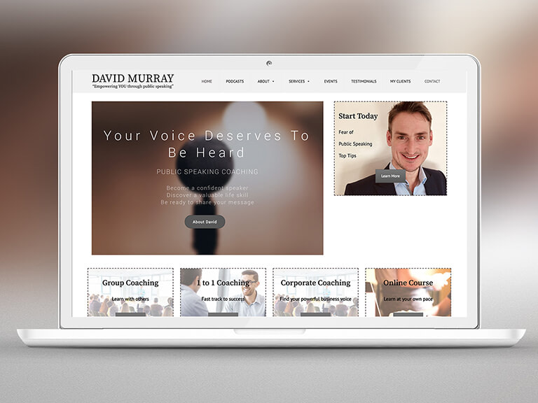 David Murray Pay Monthly Website Design