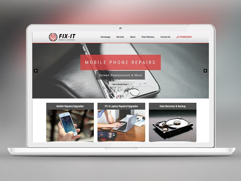 Fix It Store Pay Monthly Website Design